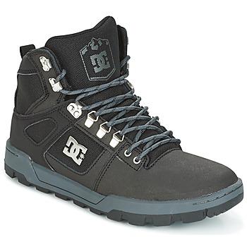 kengät Miehet Korkeavartiset tennarit DC Shoes SPARTAN HIGH WR Black / Grey