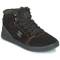 kengät Lapset Korkeavartiset tennarit DC Shoes CRISIS HIGH WNT Black / Red / White