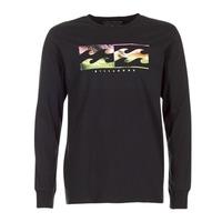 vaatteet Miehet T-paidat pitkillä hihoilla Billabong INVERSE TEE LS Black
