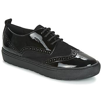 kengät Naiset Derby-kengät Geox D BREEDA Black