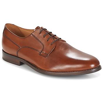 kengät Miehet Derby-kengät Geox U HAMPSTEAD Brown