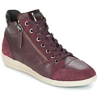 kengät Naiset Korkeavartiset tennarit Geox D MYRIA Bordeaux