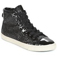 kengät Naiset Korkeavartiset tennarit Geox D NEW CLUB Black