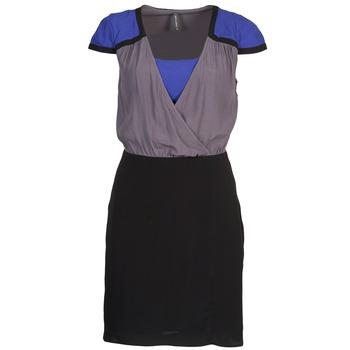 vaatteet Naiset Lyhyt mekko Naf Naf LYFAN Musta / Harmaa / Sininen