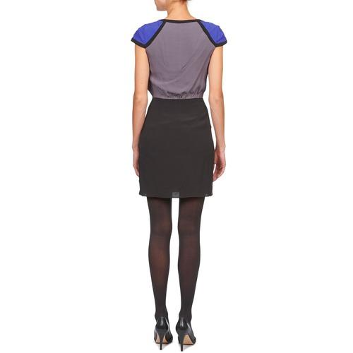 Naf Lyfan Black / Grey Blue - Ilmainen Toimitus- Vaatteet Lyhyt Mekko Naiset 52