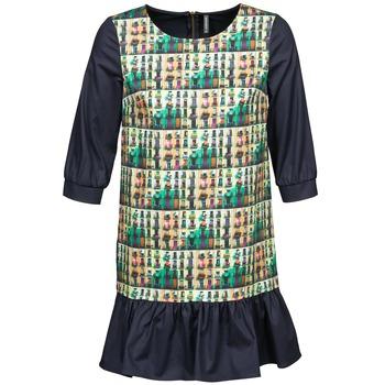 vaatteet Naiset Lyhyt mekko Naf Naf ECAPS Black / Monivärinen