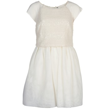 vaatteet Naiset Lyhyt mekko Naf Naf LYMELL Valkoinen