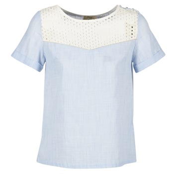 vaatteet Naiset Topit / Puserot Betty London GERMA White / Blue