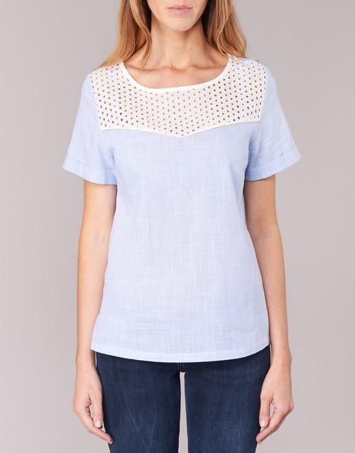 Betty London Germa White / Blue - Ilmainen Toimitus- Vaatteet Paita Naiset 25