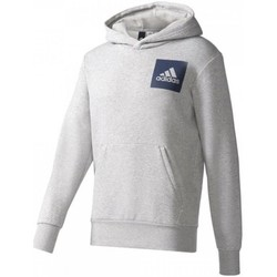 vaatteet Miehet Neulepusero adidas Originals Essentials Chest Logo Pullover Hood Fleece M Harmaat