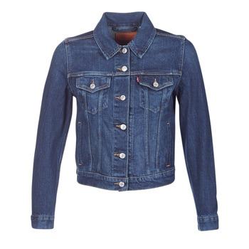 vaatteet Naiset Farkkutakki Levi's ORIGINAL TRUCKER Blue / Farkku