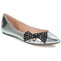 kengät Naiset Balleriinat Marc Jacobs RITA POINTY TOE Argenté