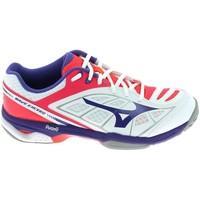 kengät Naiset Matalavartiset tennarit Mizuno Wave Exceed CC Blanc Valkoinen