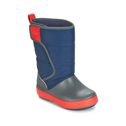 kengät Lapset Talvisaappaat Crocs LODGEPOINT SNOW BOOT K Laivastonsininen