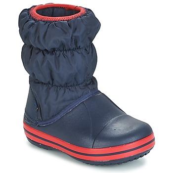 kengät Lapset Kumisaappaat Crocs WINTER PUFF BOOT KIDS Laivastonsininen