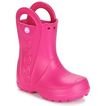 kengät Tytöt Kumisaappaat Crocs HANDLE IT RAIN BOOT Pink