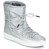 kengät Naiset Bootsit Moon Boot MOON BOOT PULSE NYLON PLUS WP Silver