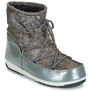 kengät Naiset Talvisaappaat Moon Boot MOON BOOT WE LOW LUREX Grey / Argenté