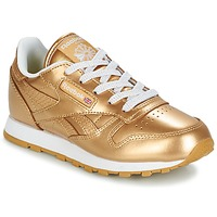 kengät Tytöt Matalavartiset tennarit Reebok Classic CLASSIC LEATHER MET Gold