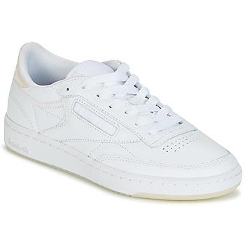 kengät Naiset Matalavartiset tennarit Reebok Classic CLUB C 85 L THR White