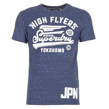 vaatteet Miehet Lyhythihainen t-paita Superdry HIGH FLYERS REWORKED Laivastonsininen