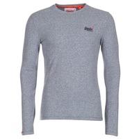vaatteet Miehet T-paidat pitkillä hihoilla Superdry ORANGE LABEL VINTAGE Grey