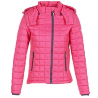 vaatteet Naiset Toppatakki Superdry FUJI BOX QUILTED Pink