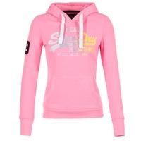 vaatteet Naiset Svetari Superdry VINTAGE LOGO STRIPE FADED Pink