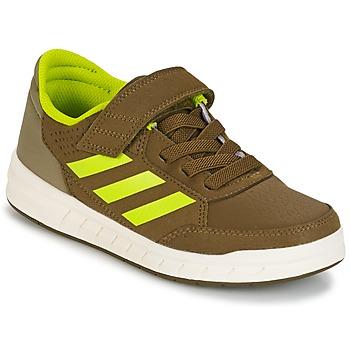 kengät Pojat Matalavartiset tennarit adidas Performance ALTASPORT EL K Kaki / Yellow