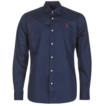 vaatteet Miehet Pitkähihainen paitapusero U.S Polo Assn. ZED Laivastonsininen