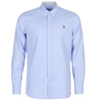 vaatteet Miehet Pitkähihainen paitapusero U.S Polo Assn. CALE Blue