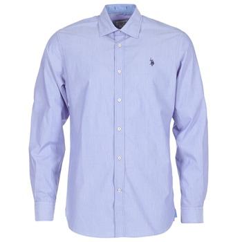 vaatteet Miehet Pitkähihainen paitapusero U.S Polo Assn. RUSTY Laivastonsininen