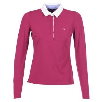 vaatteet Naiset Pitkähihainen poolopaita Gant SOLID JERSEY LS RUGGER Pink