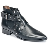 kengät Naiset Bootsit Ikks LOW BOOTS BRIDGE ROCK Black