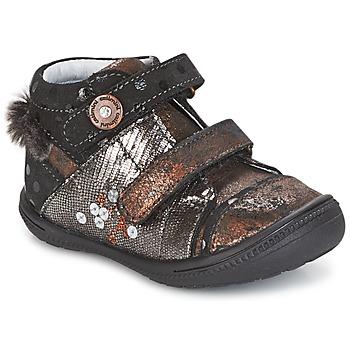 kengät Tytöt Bootsit Catimini ROSSIGNOL Musta / Cuivré