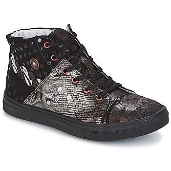 kengät Tytöt Bootsit Catimini ROUSSEROLLE Black / Cuivré