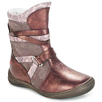 kengät Tytöt Bootsit GBB ROSANA Pink / BORDEAUX