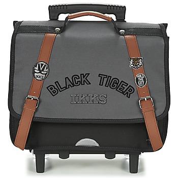 laukut Pojat Pyörillä kulkevat koululaukut Ikks BLACK TIGER CARTABLE TROLLEY 38CM Grey / Black