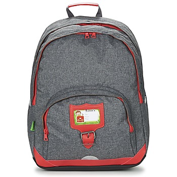 laukut Lapset Reput Tann's CLASSIC SAC A DOS L Grey / Red