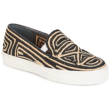 kengät Naiset Tennarit Robert Clergerie  Black / Beige