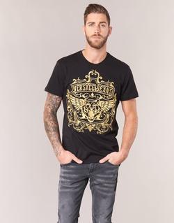 vaatteet Miehet Lyhythihainen t-paita Versace Jeans B3GQB7T2 Black / Dore