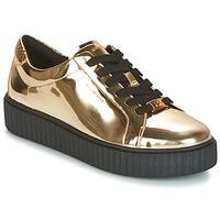 kengät Naiset Matalavartiset tennarit MICHAEL Michael Kors TRAVOR LACE UP Gold