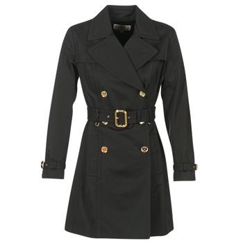 vaatteet Naiset Trenssitakki MICHAEL Michael Kors PLEATED TRENCH Black