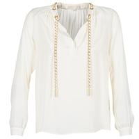 vaatteet Naiset Topit / Puserot MICHAEL Michael Kors SLIT L/S CHAIN Creme