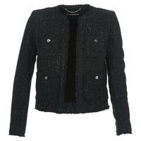 vaatteet Naiset Takit / Bleiserit MICHAEL Michael Kors FRAY TWD 4PKT JKT Black / Hopea
