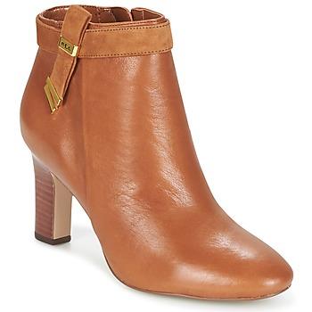 kengät Naiset Nilkkurit Ralph Lauren BRIN COGNAC
