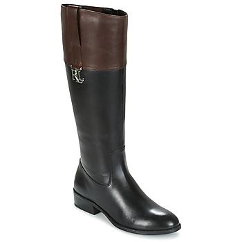 kengät Naiset Saappaat Ralph Lauren MERRIE Black / Brown