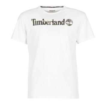 vaatteet Miehet Lyhythihainen t-paita Timberland DUNSTAN RIVER CAMO PRINT White