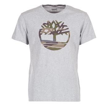 vaatteet Miehet Lyhythihainen t-paita Timberland DUNSTAN RIVER CAMO PRINT Grey
