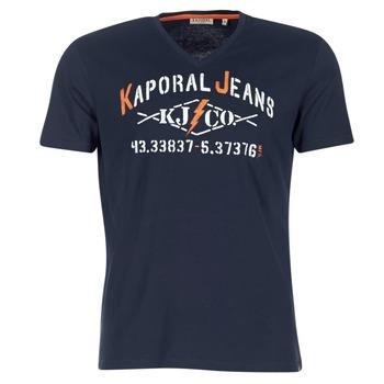 vaatteet Miehet Lyhythihainen t-paita Kaporal MAKAO Laivastonsininen